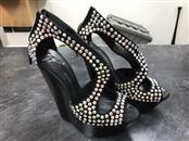 GIUSEPPE ZANOTTI Shoes/Boots BLACK CRYSTAL TOE HEELS SZ 37